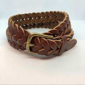 Polo by Ralph Lauren Braided Leather Belt